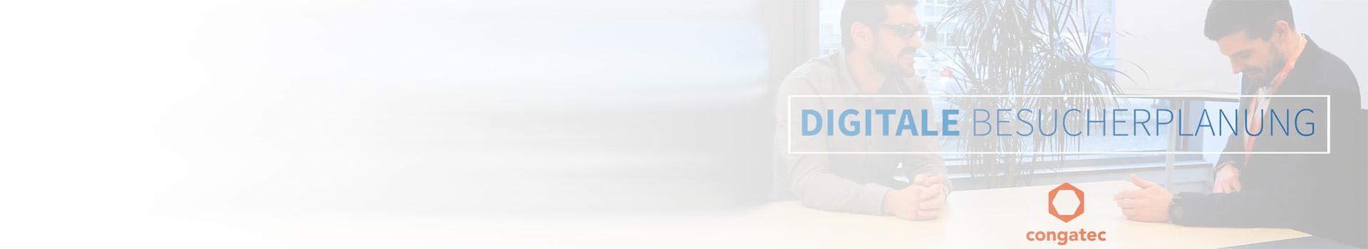 congatec Digitale BesucherPlanung Banner
